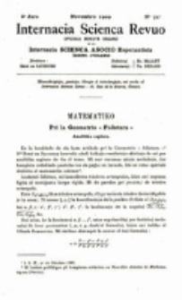 Internacia Scienca Revuo : monata organo en Esperanto. Jaro 6, no. 72 (1909)