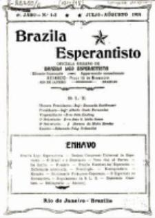 """Brazila Esperantisto : oficiala organo de """"Brazila Ligo Esperantista"""". Jaro 6, numero 1/2 (1914/1915)"""
