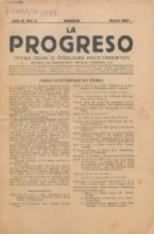 La Progreso : ĉeĥoslavaka organo esperantista : československ list esperantsky. Jaro 10, nro 3 (Marto 1927)