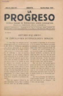 La Progreso : ĉeĥoslavaka organo esperantista : československ list esperantsky. Jaro 10, nro 4/5 (Aprilo/Majo 1927)