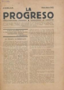 La Progreso : ĉeĥoslavaka organo esperantista : československ list esperantsky. Jaro 5, nro 5/6 (Majo/Junio 1922)