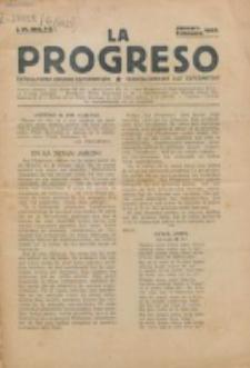 La Progreso : ĉeĥoslavaka organo esperantista : československ list esperantsky. Jaro 6, nro 1/2 (Januaro/Februaro 1923)