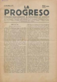 La Progreso : ĉeĥoslavaka organo esperantista : československ list esperantsky. Jaro 6, nro 5/6 (Majo/Junio 1923)