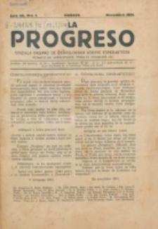 La Progreso : ĉeĥoslavaka organo esperantista : československ list esperantsky. Jaro 7, nro 1 (Novembro 1923)