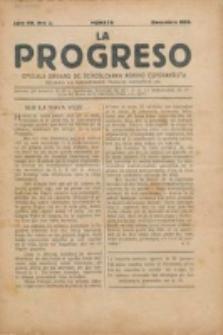 La Progreso : ĉeĥoslavaka organo esperantista : československ list esperantsky. Jaro 7, nro 2 (Decembro 1923)