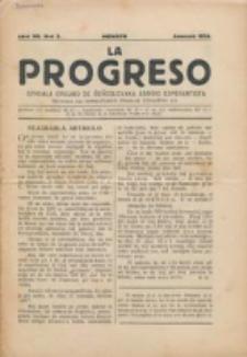 La Progreso : ĉeĥoslavaka organo esperantista : československ list esperantsky. Jaro 7, nro 3 (Januaro 1924)