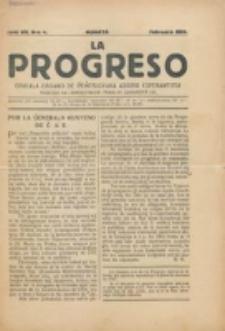 La Progreso : ĉeĥoslavaka organo esperantista : československ list esperantsky. Jaro 7, nro 4 (Februaro 1924)