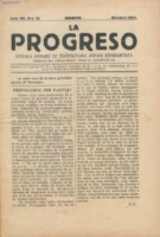 La Progreso : ĉeĥoslavaka organo esperantista : československ list esperantsky. Jaro 7, nro 10 (Oktobro 1924)