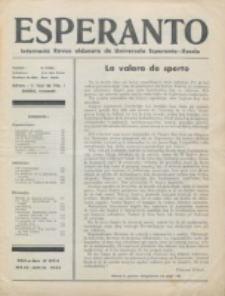 Esperanto : revuo internacia : oficiala organo de Universala Esperanto Asocio. Jaro 29, no 5/6=393/394 (Majo/Junio 1933)