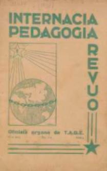 Internacia Pedagogia Revuo : oficiala organo de Tutmonda Asocio de Geinstruistoj Esperantistaj (TAGE). Jaro 17, n-o 3 (1938)