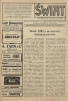 Świat : pismo tygodniowe ilustrowane poświęcone życiu społecznemu, literaturze i sztuce. R. 9 (1914), nr 13 (28 marca)