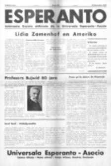 Esperanto : revuo internacia : oficiala organo de Universala Esperanto Asocio. Jaro 33, no 453 (25 Novembro 1937)