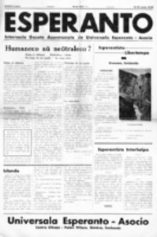 Esperanto : revuo internacia : oficiala organo de Universala Esperanto Asocio. Jaro 34, no 465 (15/30 Junio 1938)