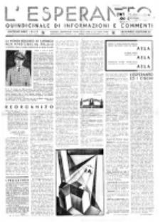 L'Esperanto : quindicinale di informazioni e commenti. Anno 11, n. 6/7 (15 Aprile 1933)