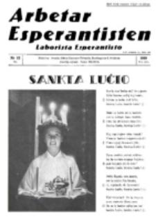 Arbetar Esperantisten = Laborista Esperantisto. Jaro 18, nr. 12 (Dec. 1939)