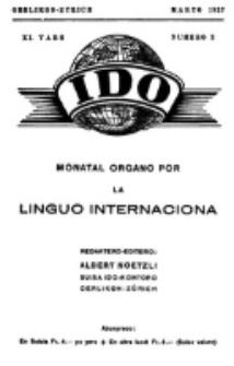Ido : jurnalo por la propago ed exercado dil Internaciona Linguo : monatal organo por la Linguo Internaciona. Yaro 11, numero 3 (Marto 1927)