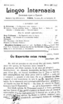 Lingvo Internacia : monata gazeto por la lingvo esperanto. Jaro 11, n-ro. 21=153 (! Novembro 1906)