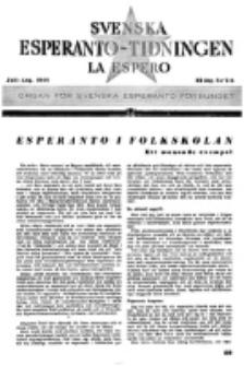 Lâ Espero : officiellt organ för Svenska Esperanto-Förbundet (S.E.F.) : organ för Esperanto-rörelsen i Sverige. Arg. 32, nr 7/8 (Juli-Aug.1944)