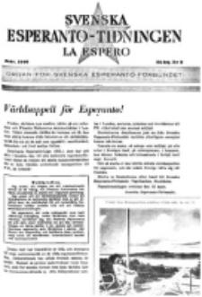 Lâ Espero : officiellt organ för Svenska Esperanto-Förbundet (S.E.F.) : organ för Esperanto-rörelsen i Sverige. Arg. 34, nr 2 (Febr. 1946)