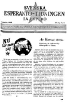 Lâ Espero : officiellt organ för Svenska Esperanto-Förbundet (S.E.F.) : organ för Esperanto-rörelsen i Sverige. Arg. 34, nr 9 (September 1946)