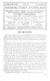 Nederlanda Katoliko. Jg. 20, no. 10 (1936)