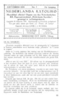 Nederlanda Katoliko. Jg. 18, no. 5 (September 1933)