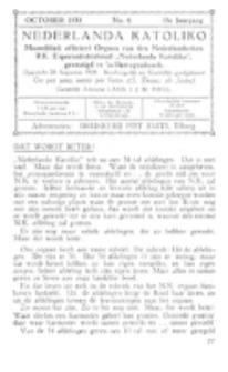 Nederlanda Katoliko. Jg. 18, no. 6 (October 1933)