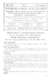 Nederlanda Katoliko. Jg. 19, no. 1 (1934)