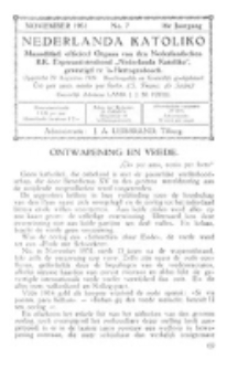 Nederlanda Katoliko. Jg. 16, no. 7 (November 1931)
