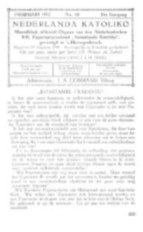 Nederlanda Katoliko. Jg. 16, no. 10 (Februari 1932)