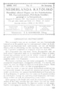 Nederlanda Katoliko. Jg. 16, no. 12 (April 1932)