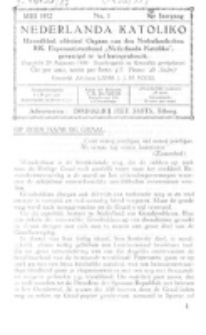 Nederlanda Katoliko. Jg. 17, no. 1 (Mei 1932)