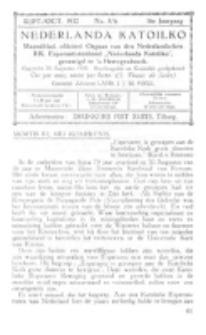 Nederlanda Katoliko. Jg. 17, no. 5/6 (Sept./Oct. 1932)