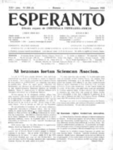 Esperanto : revuo internacia : oficiala organo de Universala Esperanto Asocio. Jaro 21, no 1=293 (Januaro 1925)