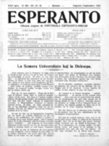 Esperanto : revuo internacia : oficiala organo de Universala Esperanto Asocio. Jaro 21, no 8/9=300/301 (Aŭgusto/Septembro 1925).