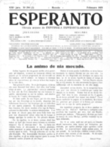 Esperanto : revuo internacia : oficiala organo de Universala Esperanto Asocio. Jaro 21, no 2=294 (Februaro 1925)