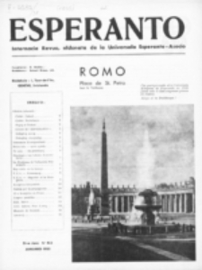 Esperanto : revuo internacia : oficiala organo de Universala Esperanto Asocio. Jaro 31, no 1=413 (Januaro 1935)