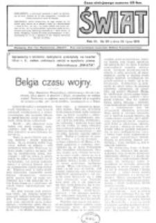Świat : pismo tygodniowe ilustrowane poświęcone życiu społecznemu, literaturze i sztuce. R. 11 (1916), nr 30 (22 lipca)