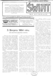 Świat : pismo tygodniowe ilustrowane poświęcone życiu społecznemu, literaturze i sztuce. R. 11 (1916), nr 31 (29 lipca)