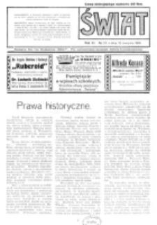 Świat : pismo tygodniowe ilustrowane poświęcone życiu społecznemu, literaturze i sztuce. R. 11 (1916), nr 33 (12 sierpnia 1916)
