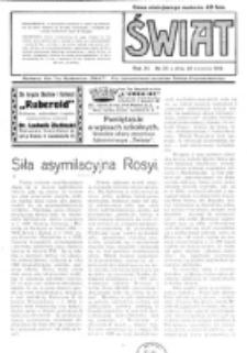 Świat : pismo tygodniowe ilustrowane poświęcone życiu społecznemu, literaturze i sztuce. R. 11 (1916), nr 35 (26 sierpnia 1916)