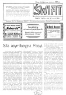 Świat : pismo tygodniowe ilustrowane poświęcone życiu społecznemu, literaturze i sztuce. R. 11 (1916), nr 34 (19 sierpnia)