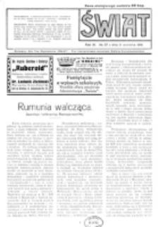 Świat : pismo tygodniowe ilustrowane poświęcone życiu społecznemu, literaturze i sztuce. R. 11 (1916), nr 37 (9 września)