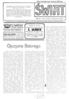 Świat : pismo tygodniowe ilustrowane poświęcone życiu społecznemu, literaturze i sztuce. R. 11 (1916), nr 41 (7 października)