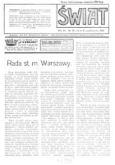 Świat : pismo tygodniowe ilustrowane poświęcone życiu społecznemu, literaturze i sztuce. R. 11 (1916), nr 43 (21 października)