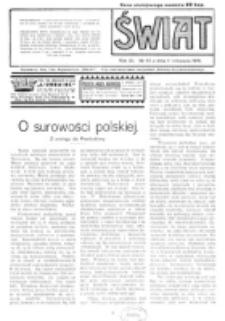 Świat : pismo tygodniowe ilustrowane poświęcone życiu społecznemu, literaturze i sztuce. R. 11 (1916), nr 45 (4 listopada)