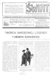 Świat : pismo tygodniowe ilustrowane poświęcone życiu społecznemu, literaturze i sztuce. R. 11 (1916), nr 48 (25 listopada)
