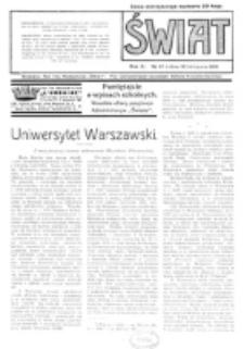 Świat : pismo tygodniowe ilustrowane poświęcone życiu społecznemu, literaturze i sztuce. R. 11 (1916), nr 47 (18 listopada)