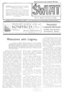 Świat : pismo tygodniowe ilustrowane poświęcone życiu społecznemu, literaturze i sztuce. R. 11 (1916), nr 50 (9 grudnia 1916)