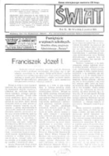 Świat : pismo tygodniowe ilustrowane poświęcone życiu społecznemu, literaturze i sztuce. R. 11 (1916), nr 49 (2 grudnia)